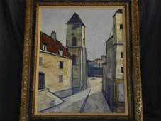 Charles Levier, Signed Oil on Canvas, Port Scene