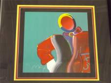 Peter Max. Lithograph. Dega Man.