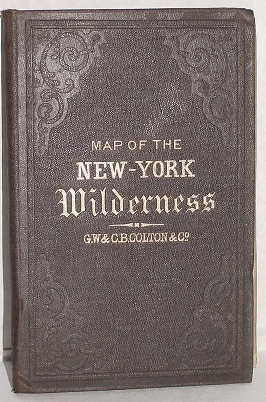 6: COLTON. MAP OF THE NEW YORK WILDERNESS.