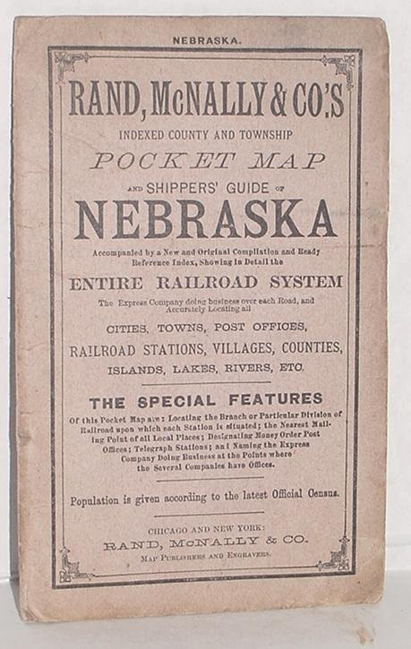 18: NEBRASKA. RAND MC NALLY & CO. 1886.