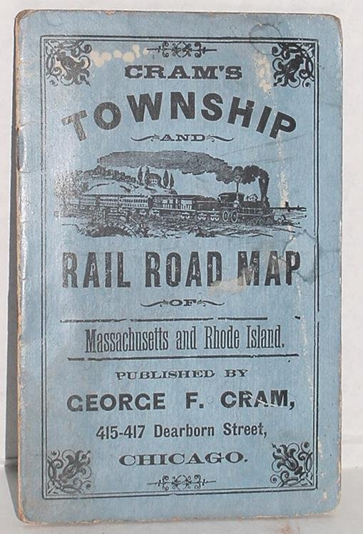 20: GEORGE F. CRAM. TOWNSHIP AND RAILROAD MAP.