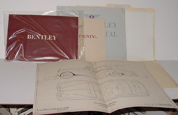 1013: TOM BONSALL ARCHIVE - AUTOMOTIVE LITERATURE