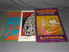 3 1960s San Fran Psychedelic Concert Posters