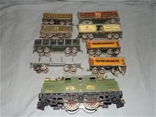 Ives Standard Gauge Electric Locomotive & Cars