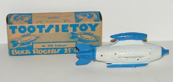 3164: TOOTSIE TOY   DESTROYER SHIP.