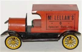 3181 TIN LITHO MC LELLANS DELIVERY TRUCK