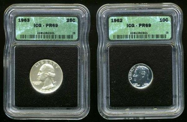 4007: COINS. LOT OF 2.