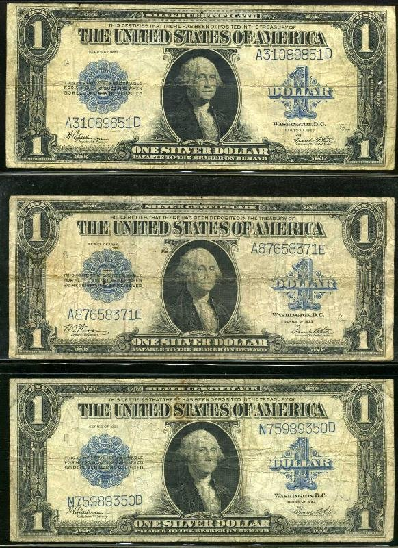 4010: CURRENCY. LOT OF THREE.