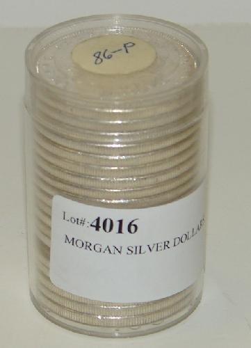 4016: MORGAN SILVER DOLLARS. UNCIRCULATED.