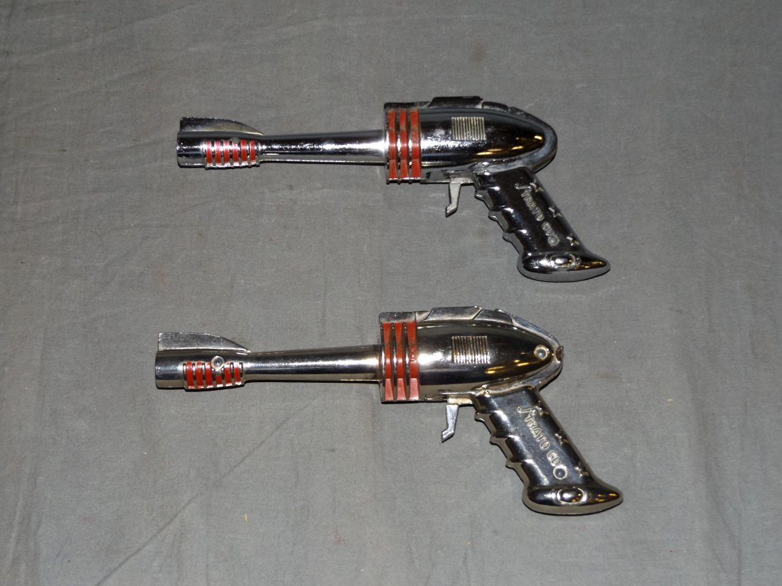 Lot of 2 Vintage Futuristic Strato Toy Cap Guns