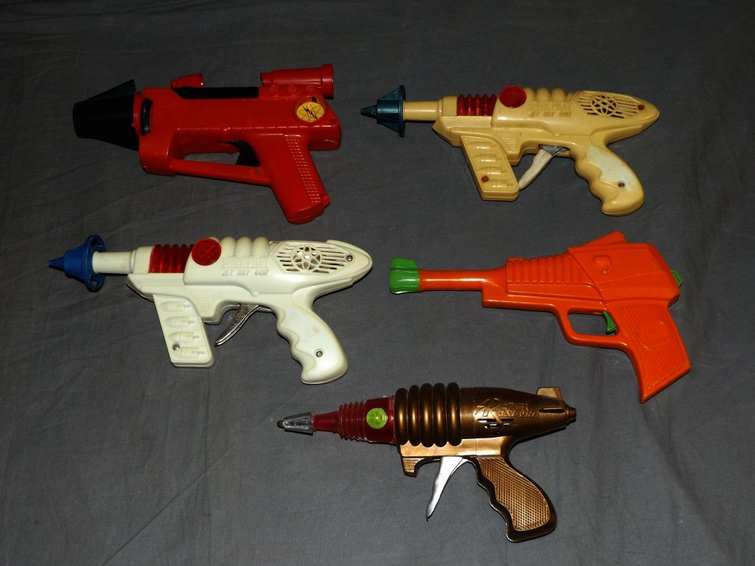 Lot of 5 Vintage Plastic Space Toy Guns