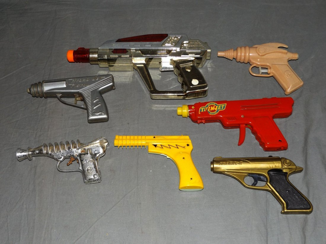 Lot of Vintage Assorted Space Toy Guns