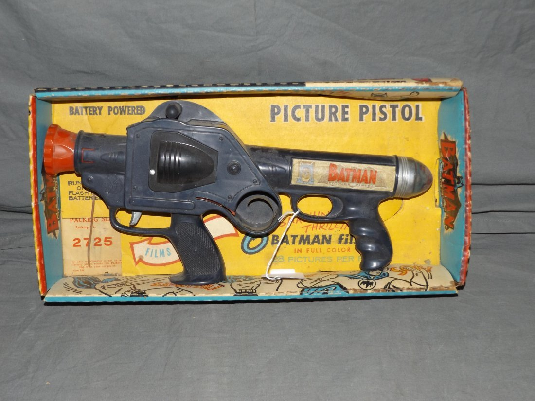 1966 Batman Picture Pistol by Marx with Orig Box
