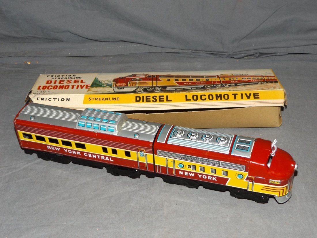 Boxed Tin Litho Friction Streamline Diesel Loco