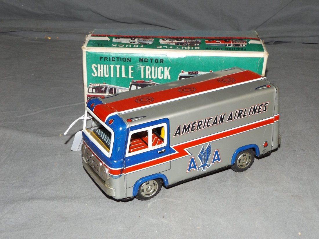 Boxed Tin Litho Friction Rosko AA Shuttle Truck