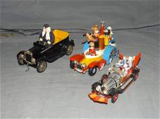 Three Comic Character Die Cast Vehicles