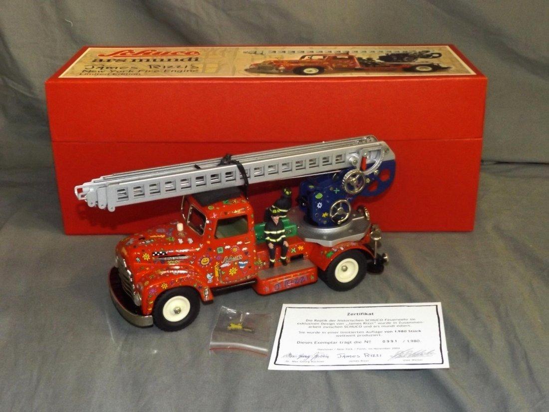 Schuco James Rizzi NY Fire Engine Ltd Ed in O/B