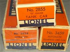 Lot of 3 Early Lionel Boxed Freight Cars