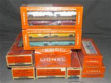 Lionel Lot of 7 Freight Cars & Auto