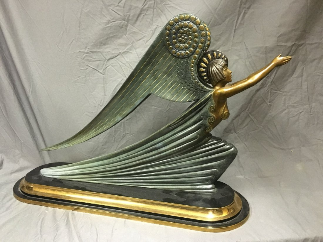 "Erte ""The Angel"" Limited Ed Bronze Sculpture"