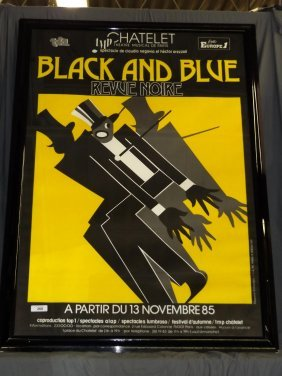 Black And Blue Revue Noire, French Jazz Poster