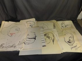 Jeff Sparks Archive Of Caricatures, Some Signed
