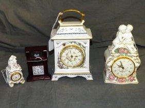 Franklin Mint Clocks. Lot Of 4