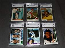 (6) Assorted Baseball RC Cards BCCG 9