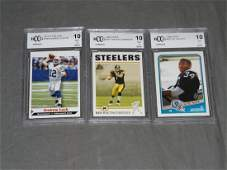 3 Football Rookie Cards BCCG 10