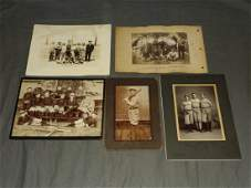 Late 19th- Early 20th century Baseball Photo Lot.