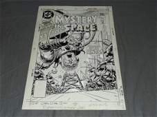 Joe Kubert. Mystery in Space Original Cover Art.
