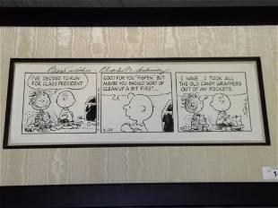 Charles Schulz. Peanuts Daily. Original 1990