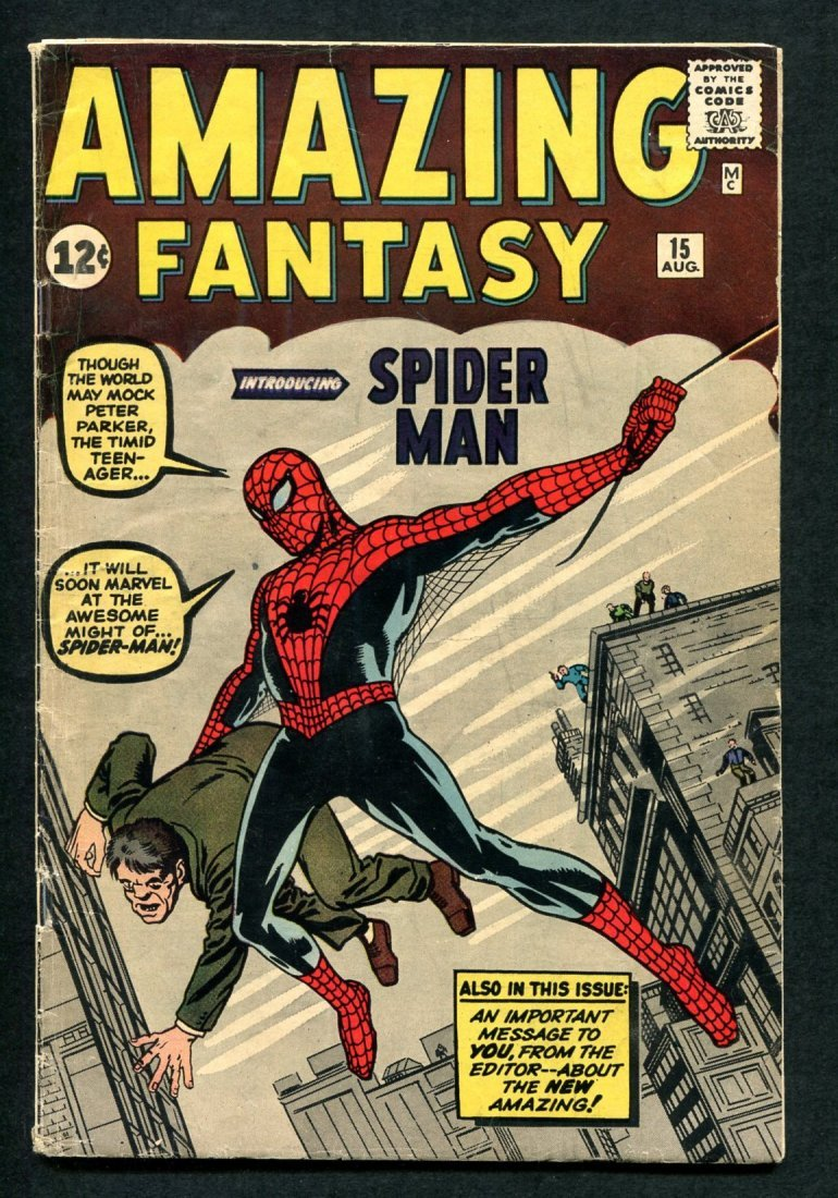 Amazing Fantasy #15 First Appearance Spiderman.