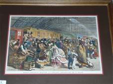 Early Lithograph Railroad