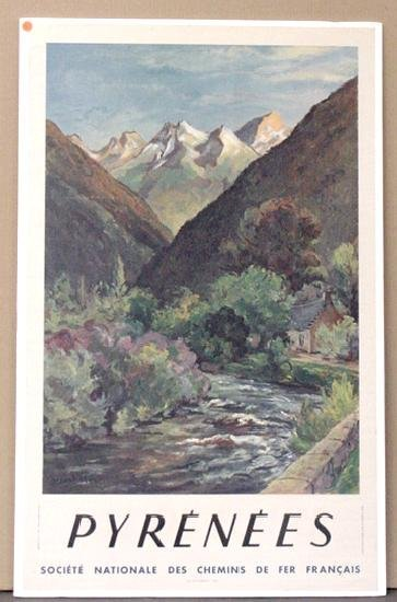 1003: TRAVEL POSTER. PYRENEES.