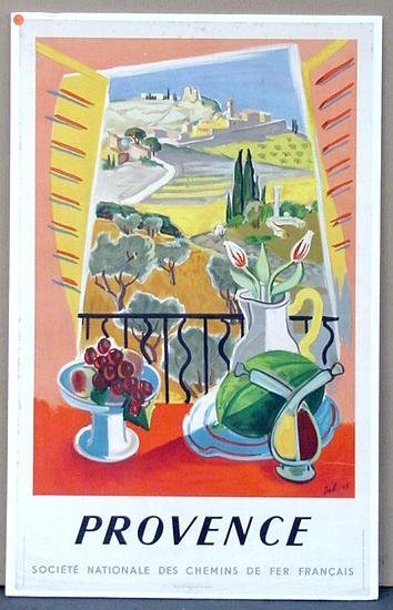 1005: TRAVEL POSTER. PROVENCE.