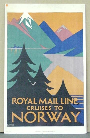 1014: TRAVEL POSTER. CRUISES TO NORWAY