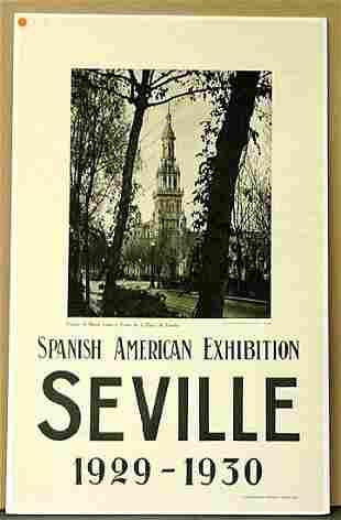 TRAVEL POSTER,SEVILLE 1929-1930
