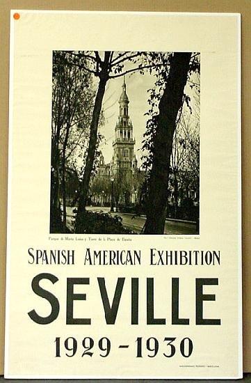 1020: TRAVEL POSTER,SEVILLE 1929-1930