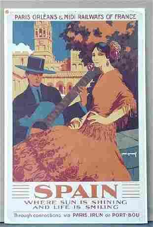 TRAVEL POSTER, SPAIN, 1928