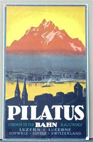 TRAVEL POSTER, PILATUS
