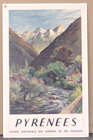 1023: TRAVEL POSTER, PYRENEES