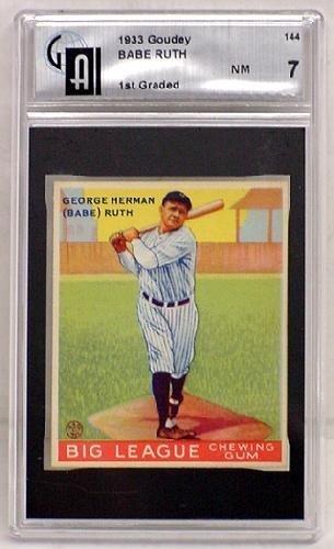 1160: 1933 GOUDEY CARD LOT, #144 BABE RUTH