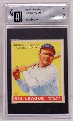 1161: 1933 GOUDEY CARD LOT #53 BABE RUTH