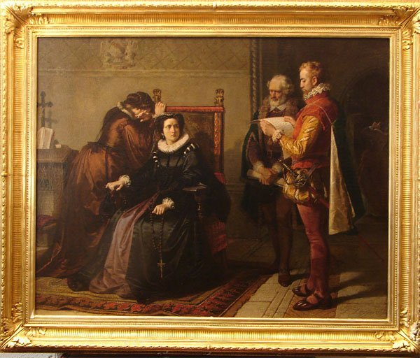 1081: MARY QUEEN OF SCOTS OIL ON CANVAS 19TH CENT