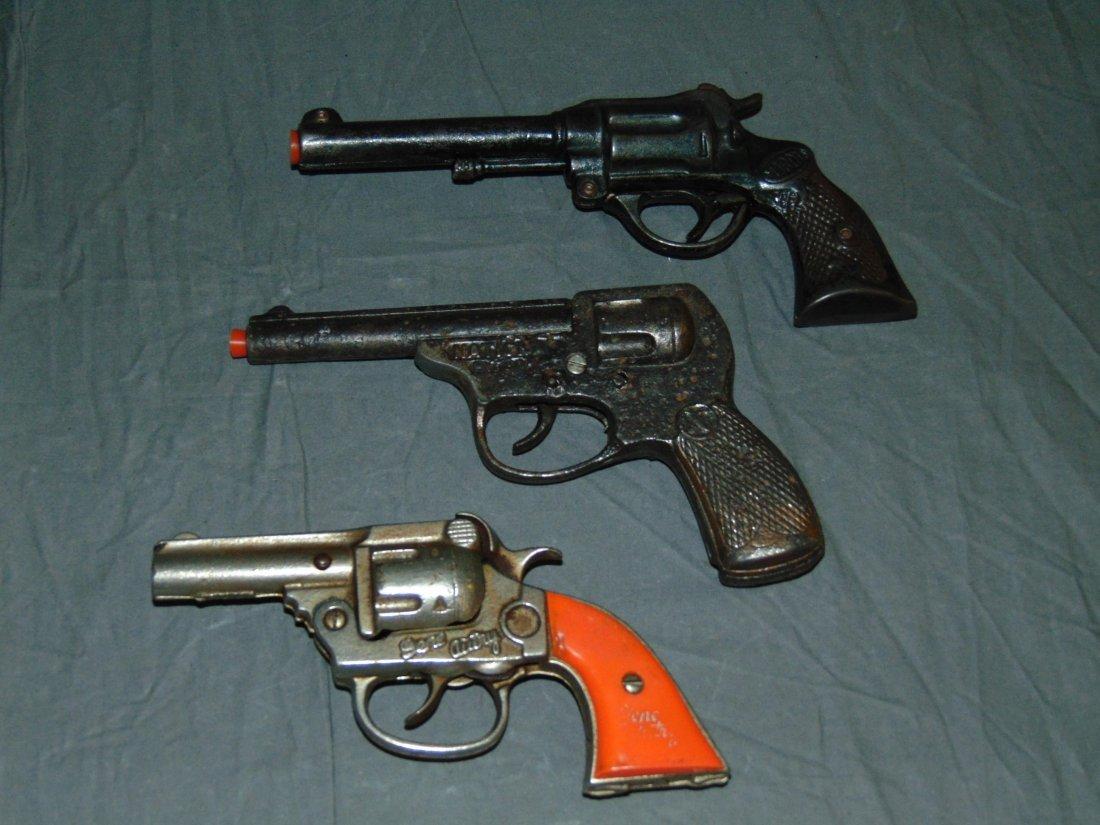 (3) Vintage Toy Cap Guns, National & Kenton