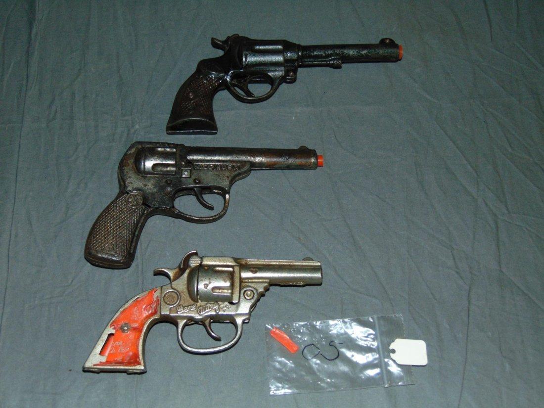 (3) Vintage Toy Cap Guns, National & Kenton - 2