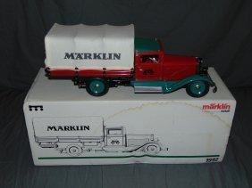 Marklin 1992 Flatbed Covered Truck In Original Box