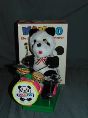 Mambo Battery Operated Bear Drummer Toy