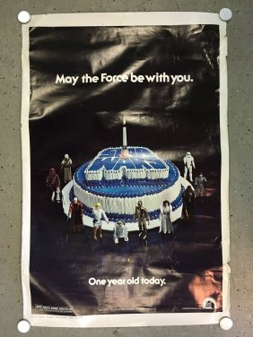 Rare, Star Wars 1978 Birthday One Sheet Poster